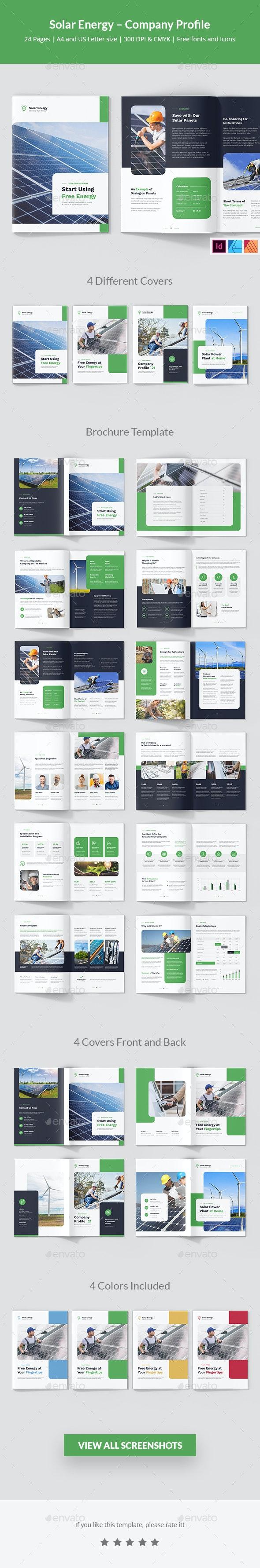 Solar Energy – Company Profile - Corporate Brochures