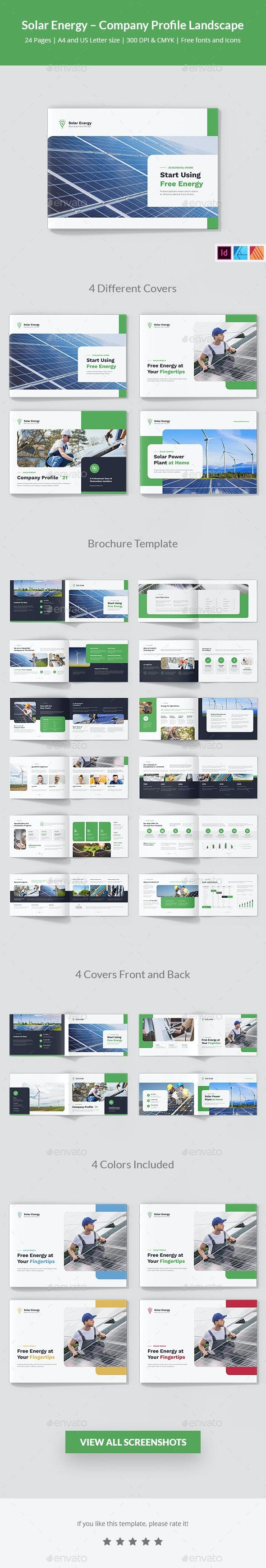 Solar Energy – Company Profile Landscape - Corporate Brochures