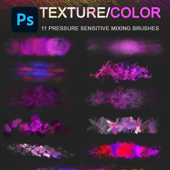 Color Mixing Texture Photoshop Brushes