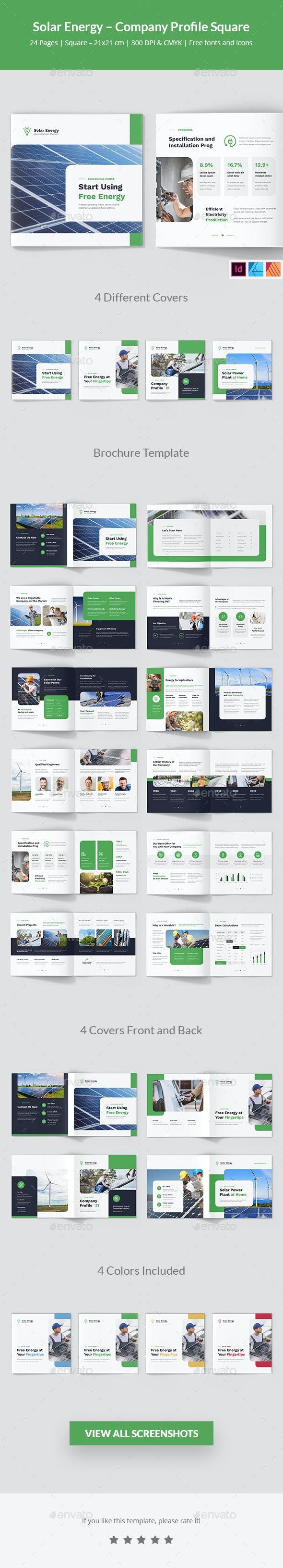Solar Energy – Company Profile Square - Corporate Brochures