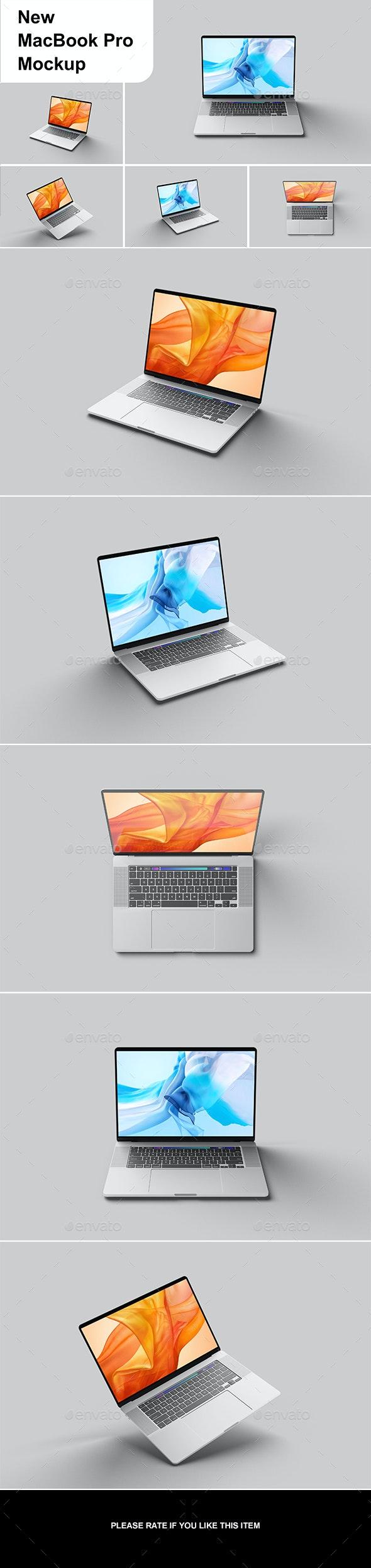 New MacBook Pro Mockup - Displays Product Mock-Ups