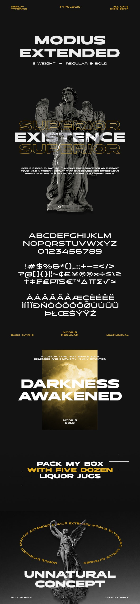 Modius Extended - Sans-Serif Fonts