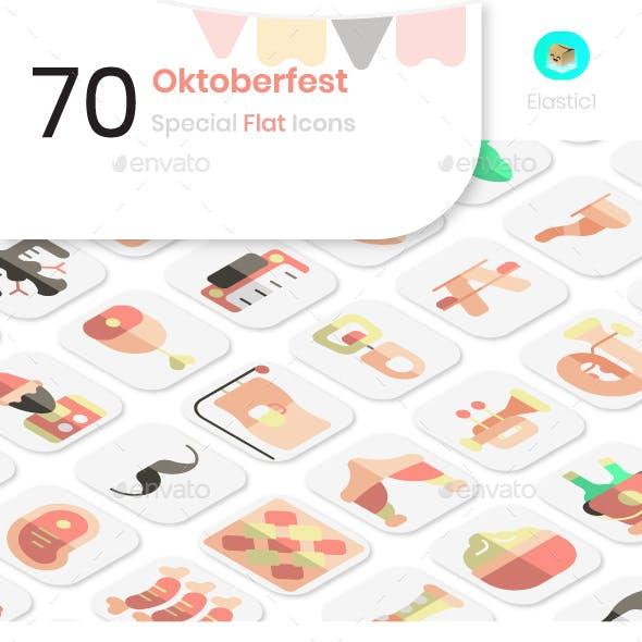 Oktoberfest Flat Icons