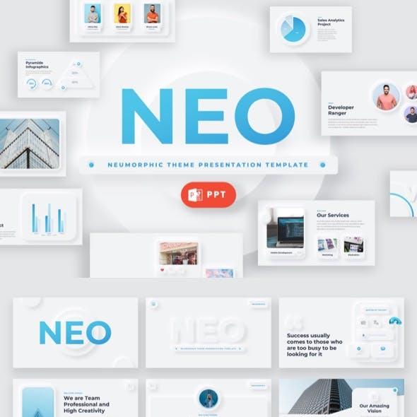 NEO - Neumorphic Theme Powerpoint Template