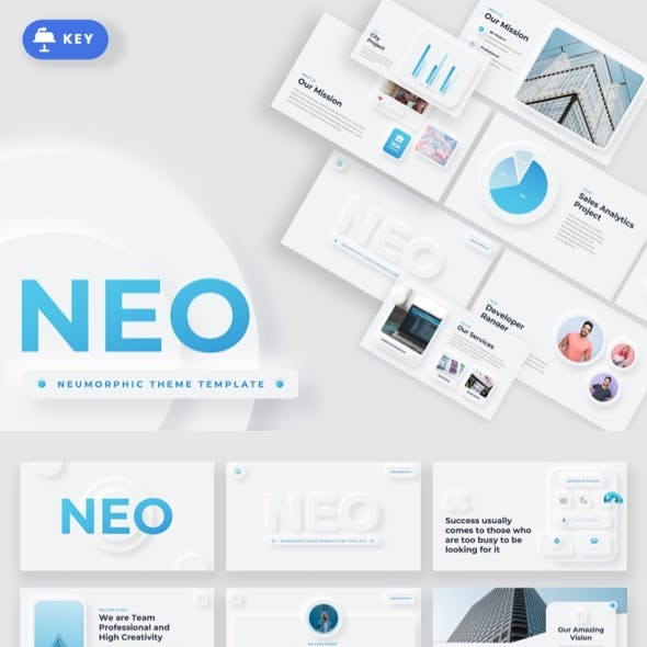 NEO - Neumorphic Theme Keynote Template