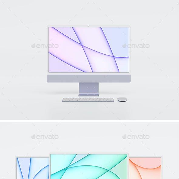 "iMac 24"" M1 Mockup"