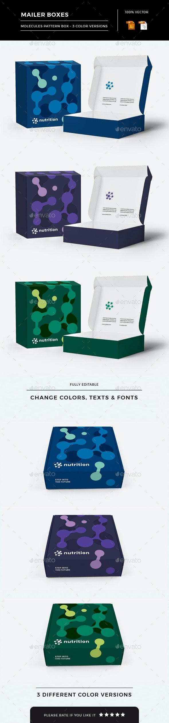 Mailer Box - Packaging Print Templates