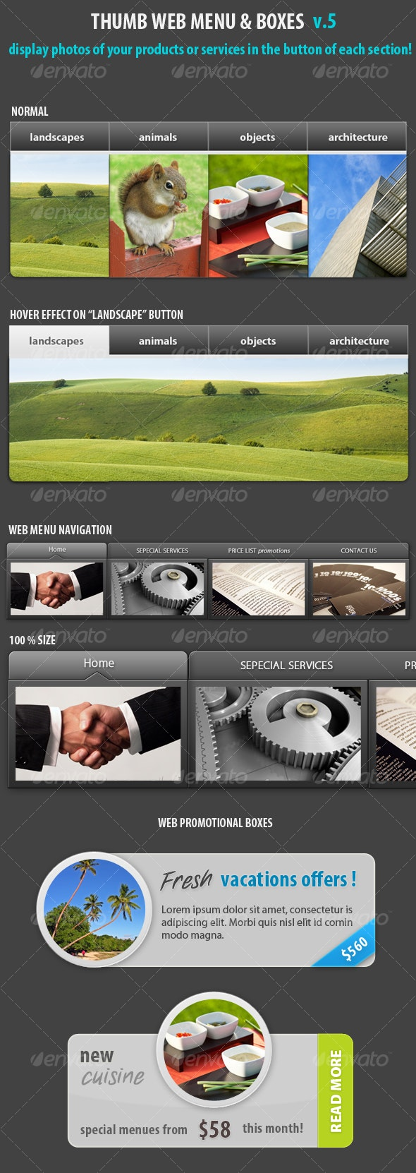 Thumb web menu navigation place your photo! v5 - Miscellaneous Web Elements