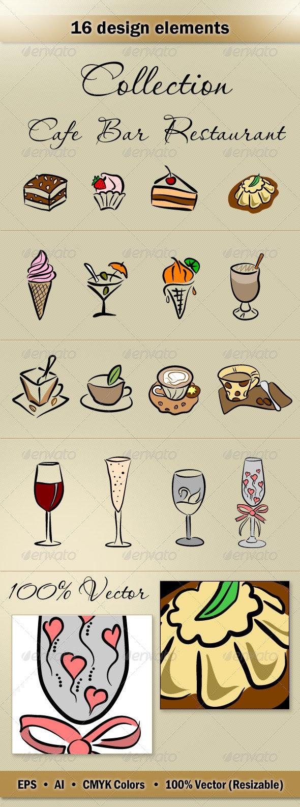 Collection_Cafe_Bar - Food Objects