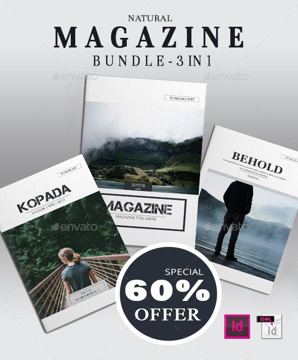Natural Magazine Bundle - Brochures Print Templates