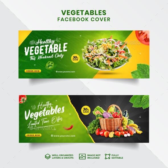 Vegetables Facebook Cover Template - Facebook Timeline Covers Social Media