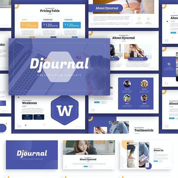 Djournal Education Presentation Template