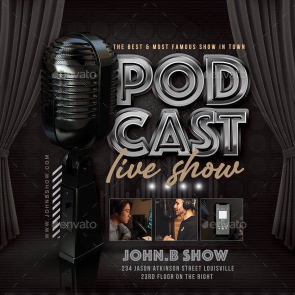 Podcast Show Flyer