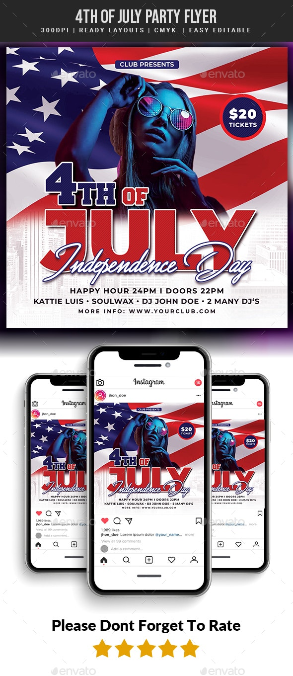 4th of July Party Flyer - Events Flyers