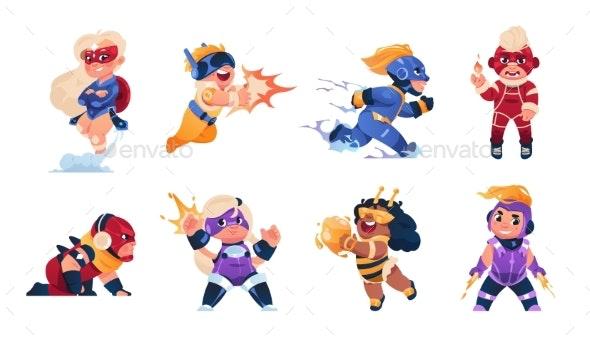 Superhero Kids - People Characters