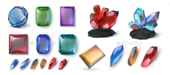 Realistic Gems - Objects Vectors