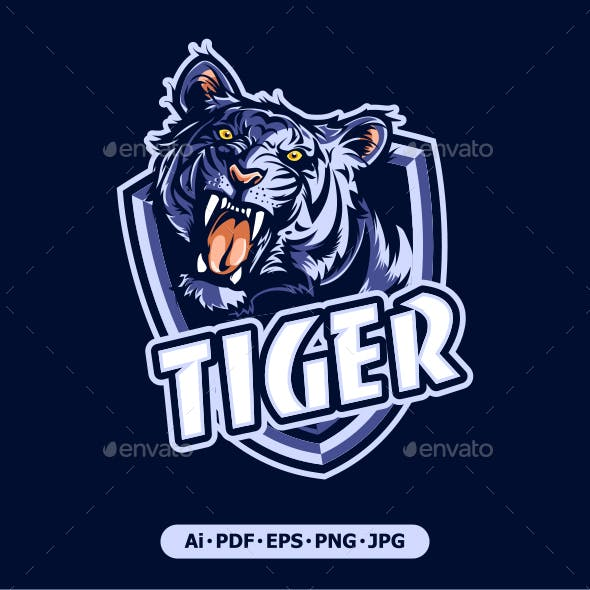 Tiger Mascot Logo for Sport and Sport