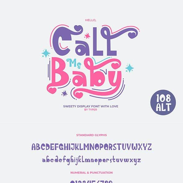 Call Me Baby - Playful Font