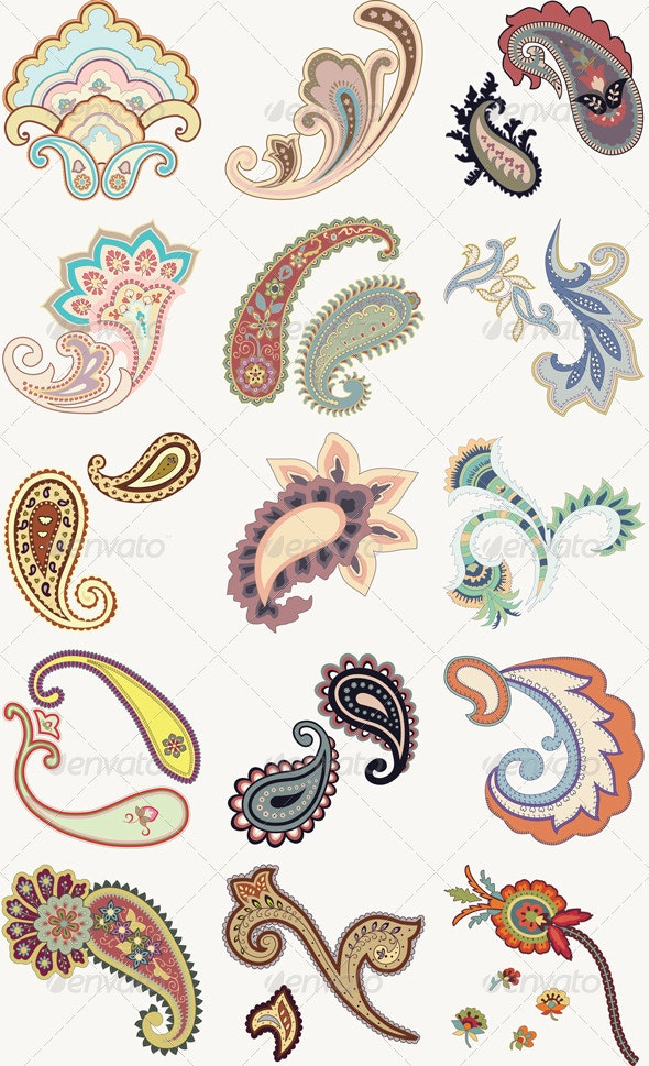 Paisley Set - Flourishes / Swirls Decorative