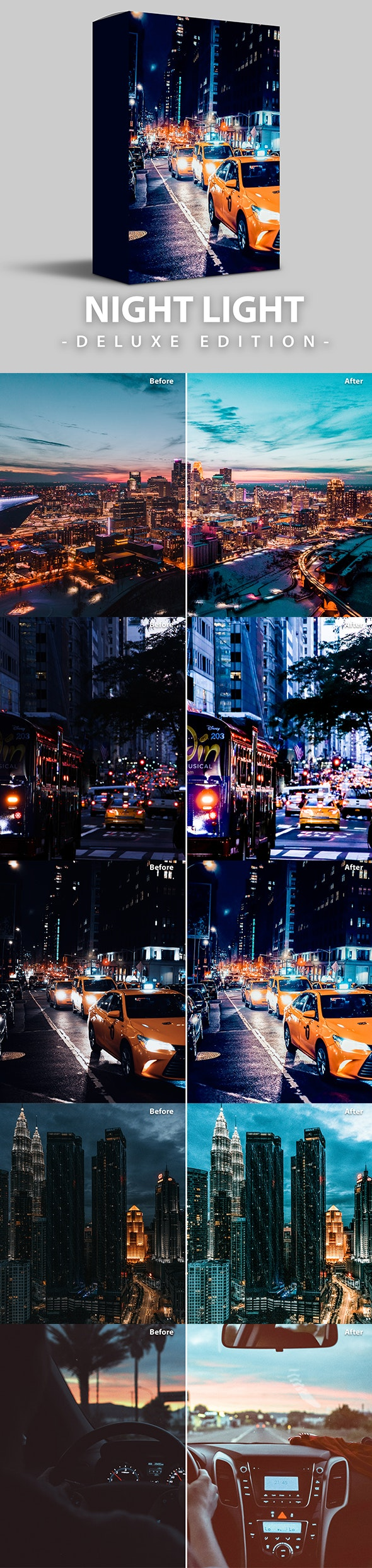 Night Light | Deluxe Edition for Mobile and Desktop - Lightroom Presets Add-ons