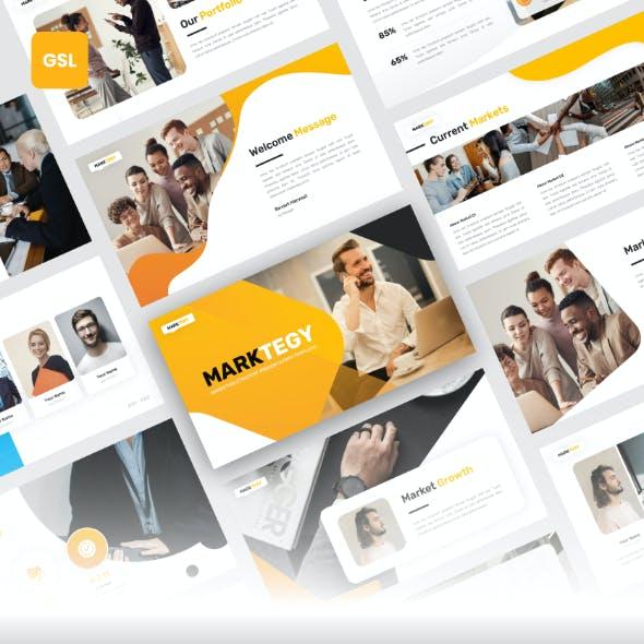 Marktegy - Marketing Plan Google Slides Template
