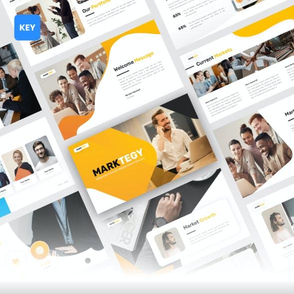 Marktegy - Marketing Plan Keynote Template