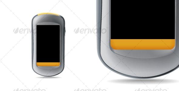 GPS navigator. - Objects Vectors