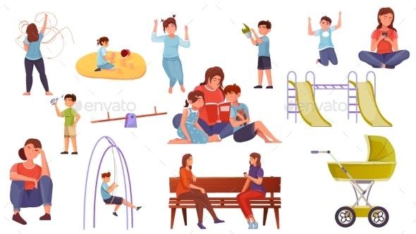 Motherhood Flat Set - People Characters