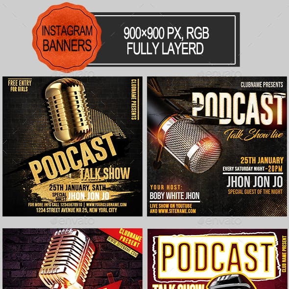 Podcast Show Instagram Banners
