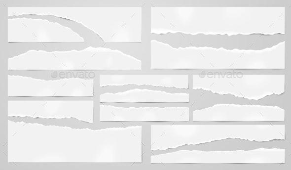 Torn Paper Sheets - Miscellaneous Vectors