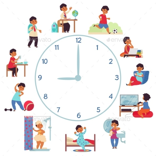 Boy Daily Schedule - People Characters