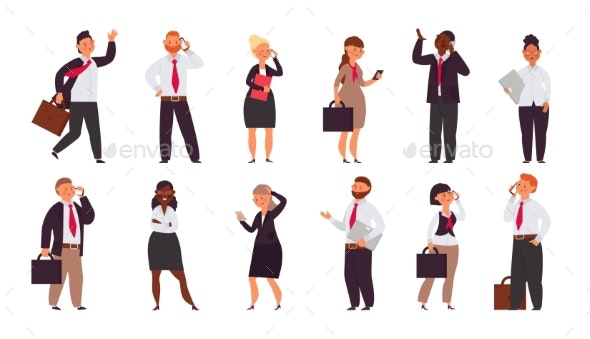 Office Workers Team - People Characters