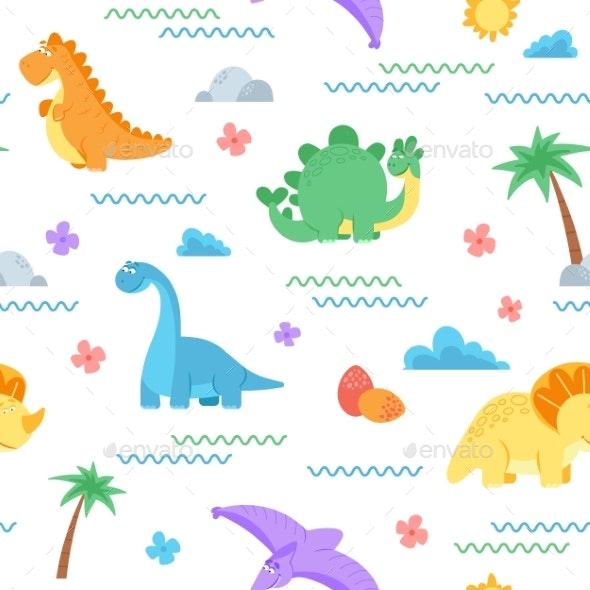 Cute Dinosaur Pattern - Animals Characters