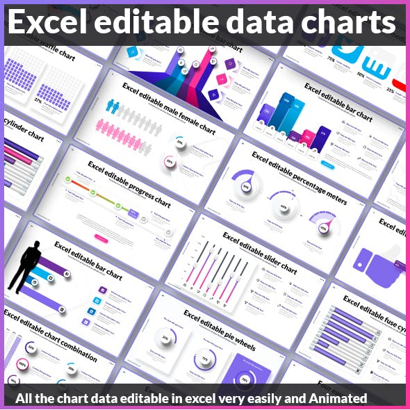 Editable Data Charts Powerpoint Template