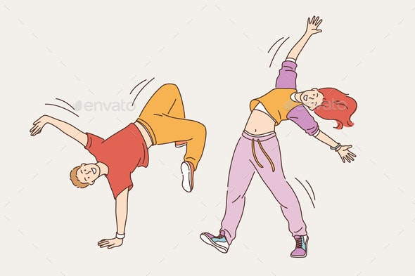 Feeling Positive and Dancing Concept - Sports/Activity Conceptual