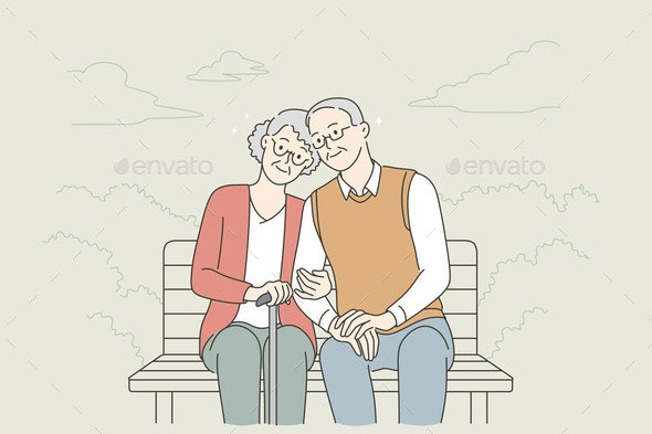 Happy Senior People Lifestyle Concept - People Characters