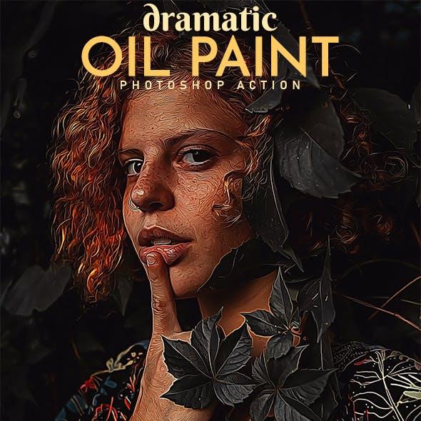 Dramatic Oil Paint Photoshop Action