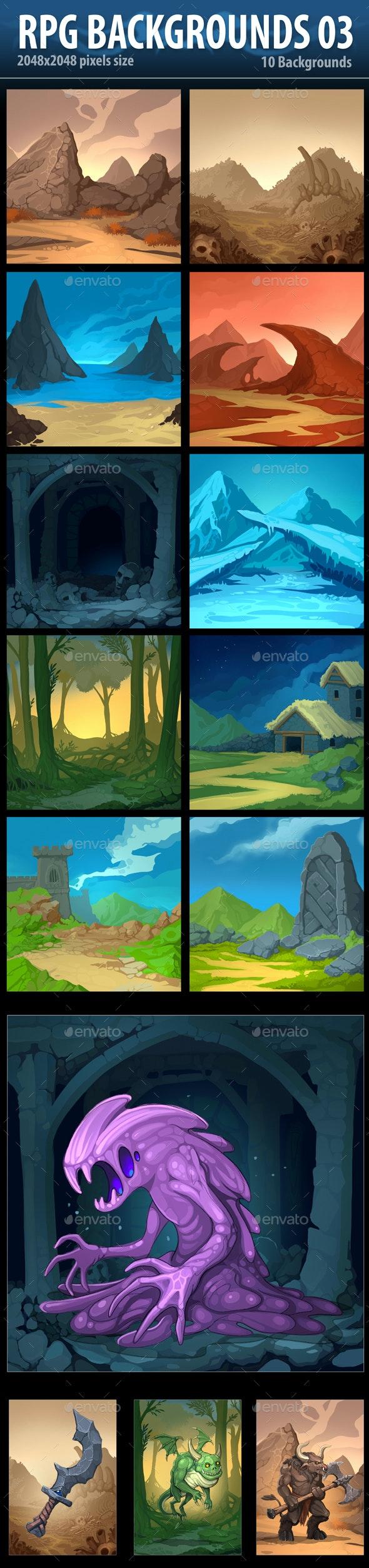 RPG Backgrounds 03 - Backgrounds Game Assets