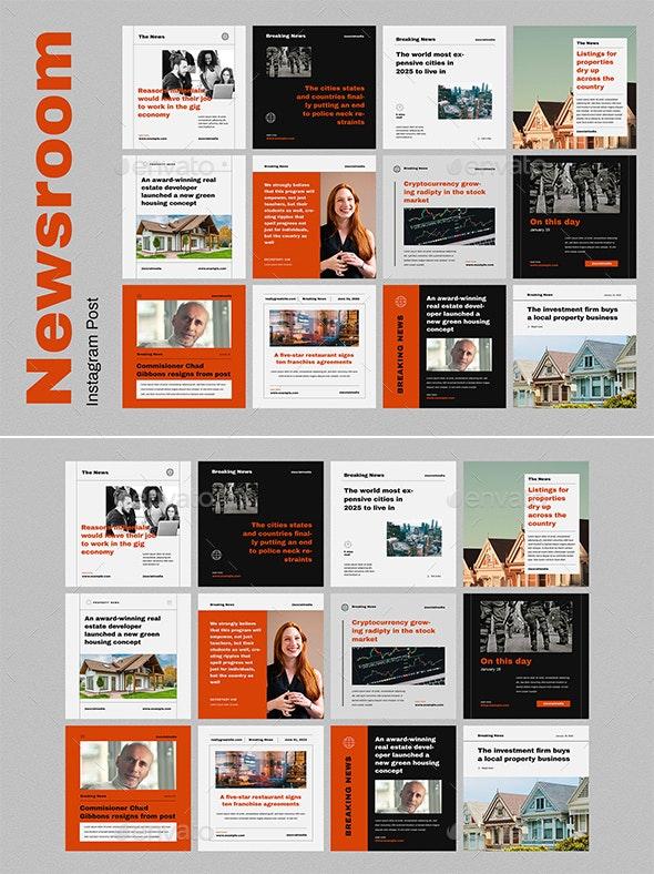 Newsroom Instagram Post - Social Media Web Elements