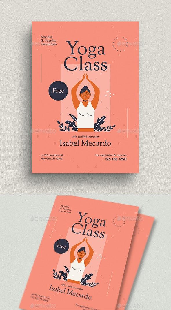 Yoga Class Event Flyer - Flyers Print Templates
