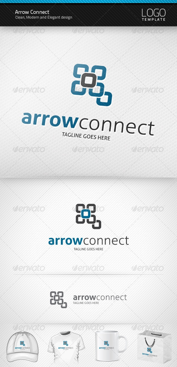 Arrow Connect Logo - Abstract Logo Templates