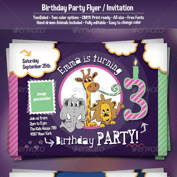 Birthday Party Flyer / Invitation
