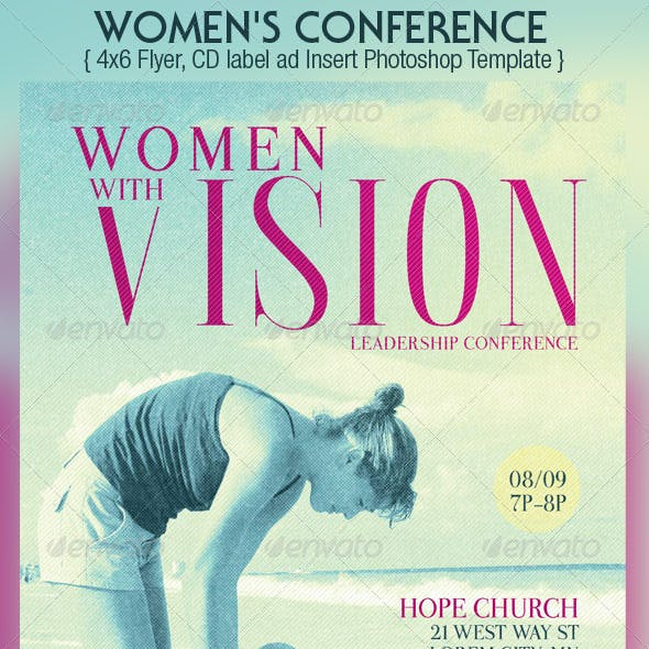 Women Leadership Conference Flyer CD Template