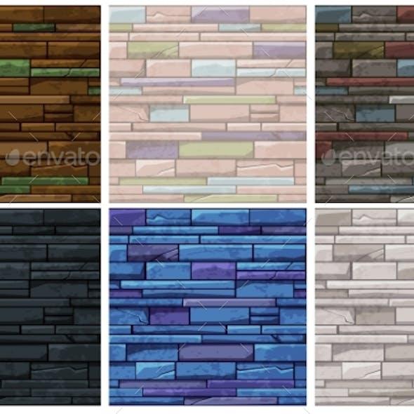 Seamless Pattern Stone Brick Old Wall