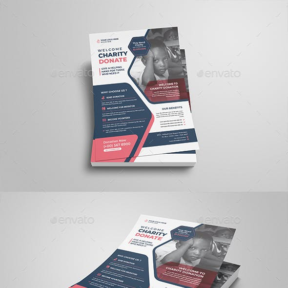 Charity Donate Flyer Template