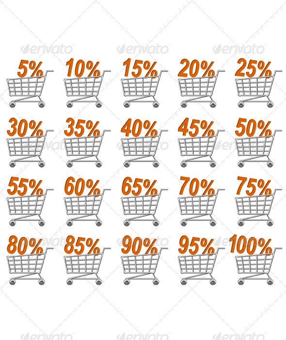 Shoppingcart Icon Set - Web Elements Vectors