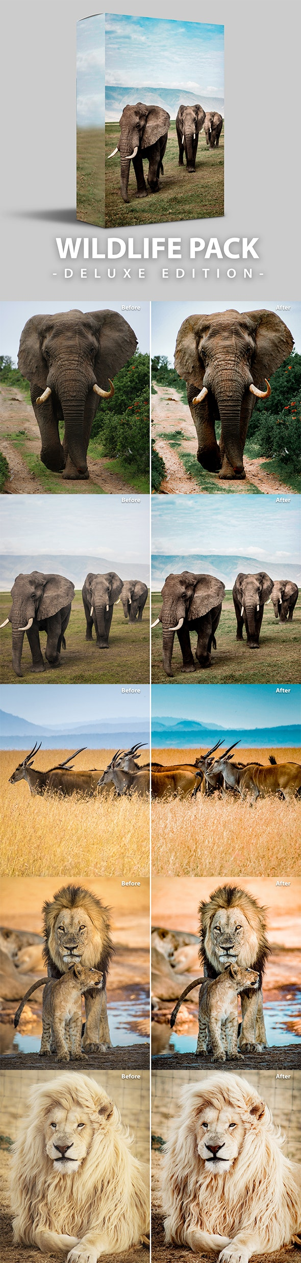 Wildlife | Deluxe  Edition for Mobile and Desktop - Lightroom Presets Add-ons