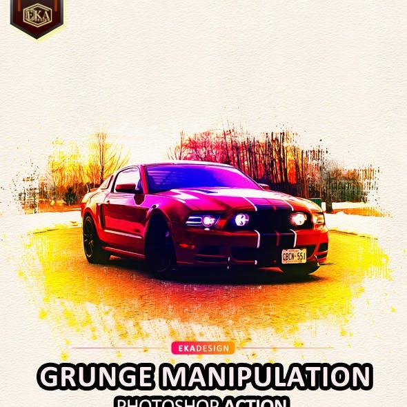 Grunge Manipulation Photoshop Action