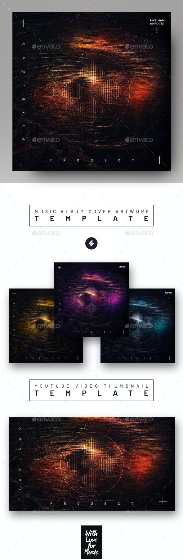Project X – Electronic Music Album Cover Template - Miscellaneous Social Media