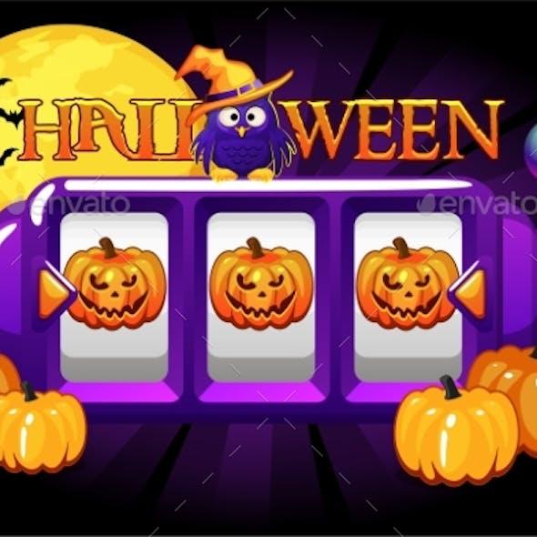 Halloween Slot Machine Pumpkin Jackpot Lucky